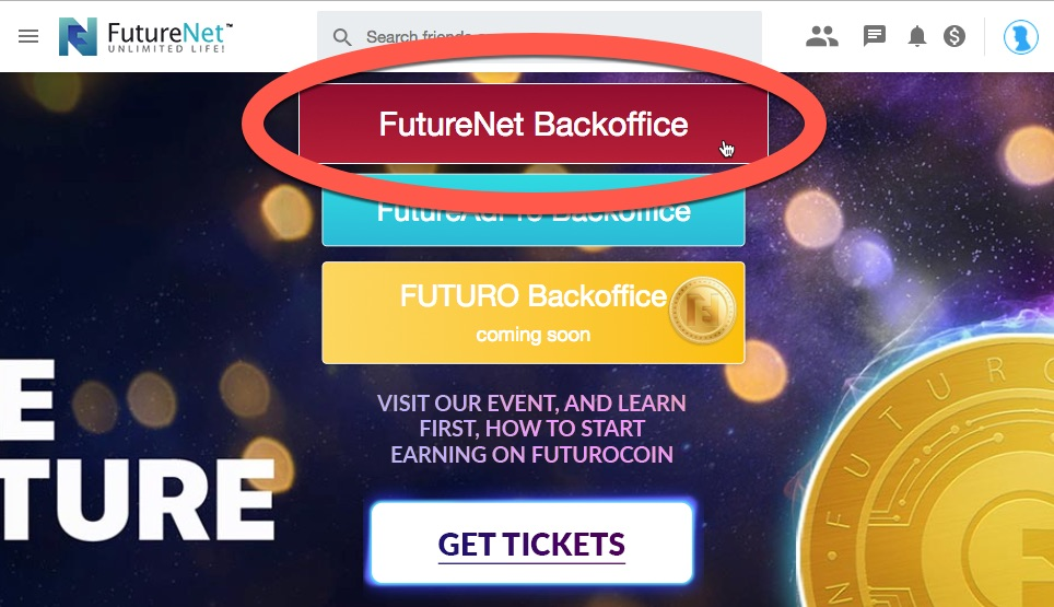 FutureNet Backoffice image